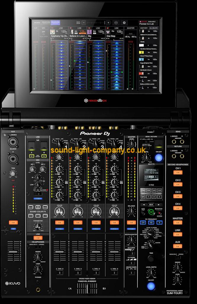 pioneer djm tour1 tour system 4 channel digital mixer with touch screen djm tour1 tour system. Black Bedroom Furniture Sets. Home Design Ideas